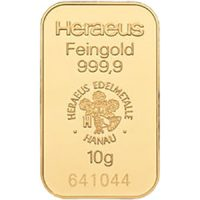 heraeus 10g gold bar