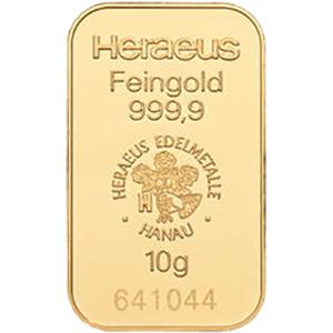heraeus 10g gold bar