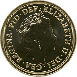 £2 Elizabeth gold coin