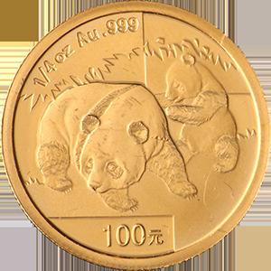 1oz-Chinese-Panda-Gold-Front