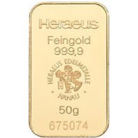 heraeus 50g gold bar