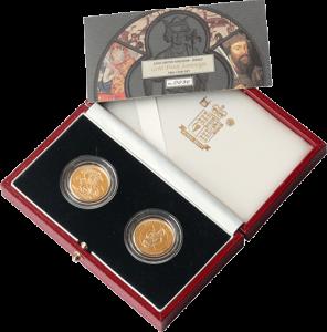Gold Sovereign 2 coin set