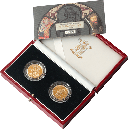 Gold Sovereign 2 coin set