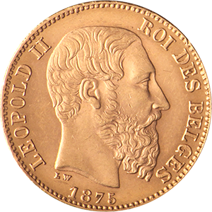 Belgium-20-Fr-Gold-Coin-Back