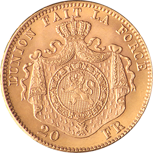 Belgium-20-Fr-Gold-Coin-Front