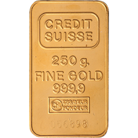 Credit Suisse 250g Gold Bar