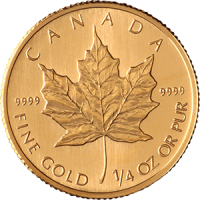Quarter-Ounce-Maple-Leaf-Front