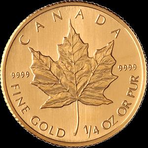 Quarter-Ounce-Maple-Leaf-Front