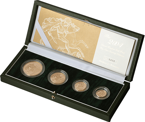 Gold Sovereign Set (£5,£2, Sov, 1/2 Sov)