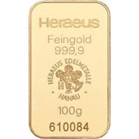 heraeus 100g gold bar