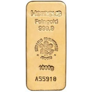 1kg gold bar heraeus