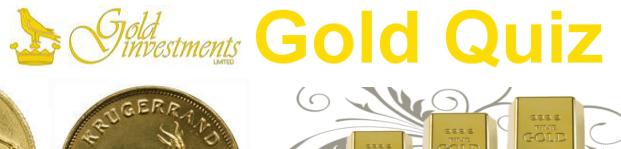 Gold quiz banner