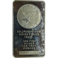 Silver 10 oz bar