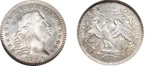The Flowing Hair Silver/Copper Dollar