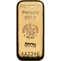 heraeus 500g gold bar