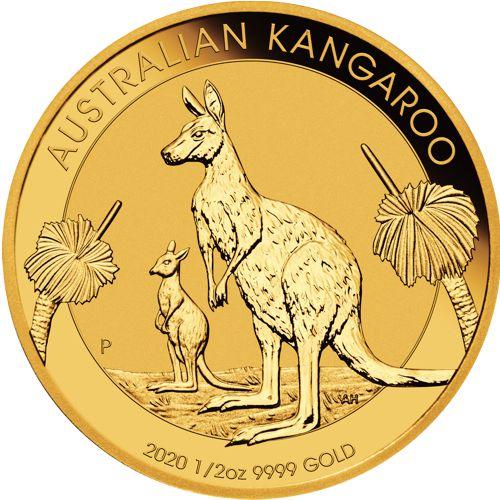 1/2 oz Australian Kangaroo Gold Coin 2020