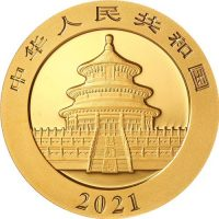 2021 Gold Chinese Panda Coin