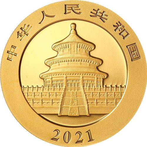 2021 Gold Chinese Panda Coin